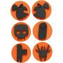 Skumstempler, diam. 7,5 cm, tykkelse 2,5 cm, halloween, 12stk.