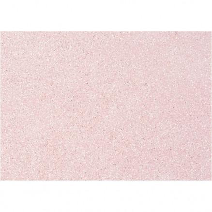 Image of   Hobbyfilt, A4 21x30 cm, tykkelse 1 mm, rosa, sølv glimmerdrys, 10ark