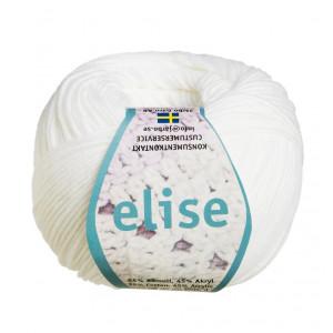 Järbo Elise Garn Unicolor 69201 Hvid