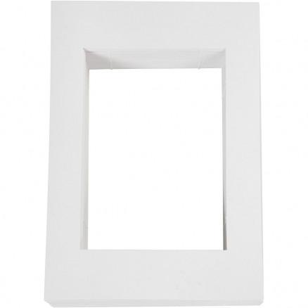 Image of   Passepartoutrammer , str. 198x280 mm, udskæring: 135x190 mm, hvid, 500