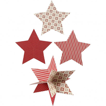 Image of   3D Stjerner, diam. 15 cm, 300 g, 3stk.