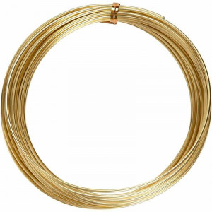 Bonzaitråd / Alu wire Guld 2mm 10m