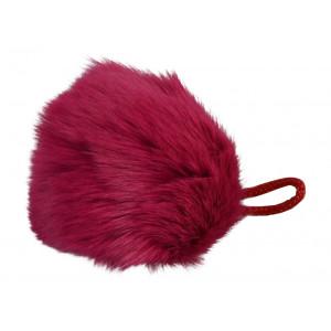 Image of   Pompon Kvast Kaninhår Pink 90 mm