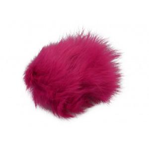 Image of   Pompon Kvast Kaninhår Pink 60 mm