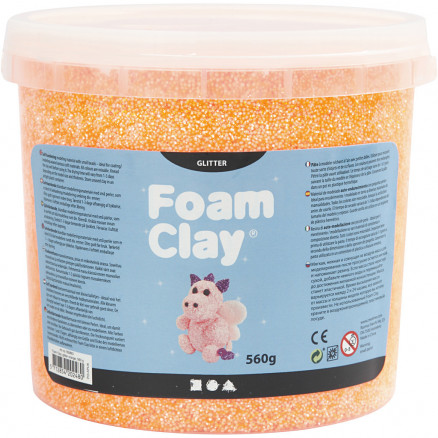 Image of   Foam Clay®, orange, glitter, 560g