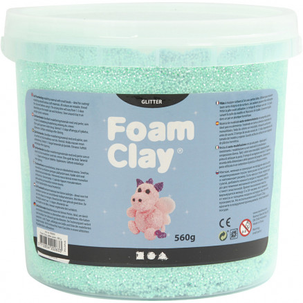Image of   Foam Clay®, lys grøn, glitter, 560g