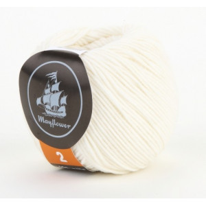 Mayflower Cotton 2 Garn Unicolor 221 Natur