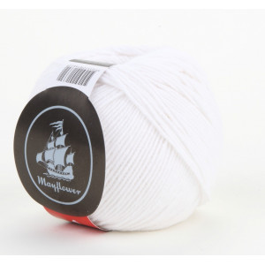 Mayflower Cotton 1 Garn Unicolor 122 Hvid