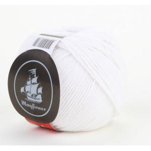 Mayflower Cotton 1 Garn Unicolor 122 Hvid