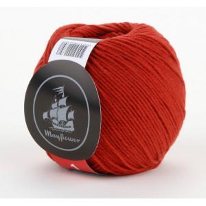 Mayflower Cotton 1 Garn Unicolor 130 Rustrød