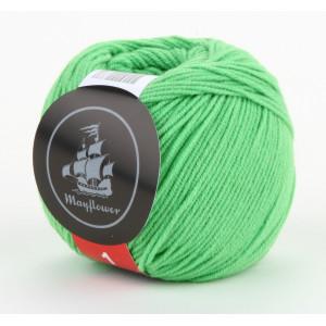 Mayflower Cotton 1 Garn Unicolor 133 Lys Grøn