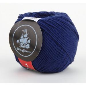 Mayflower Cotton 1 Garn Unicolor 140 Blå