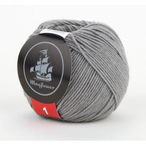Mayflower Cotton 1 Garn Unicolor 141 Grå