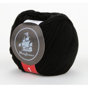 Mayflower Cotton 1 Garn Unicolor 143 Sort
