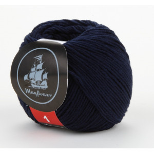 Mayflower Cotton 1 Garn Unicolor 144 Marineblå