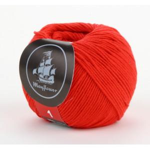Mayflower Cotton 1 Garn Unicolor 145 Rød
