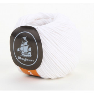 Mayflower Cotton 2 Garn Unicolor 222 Hvid