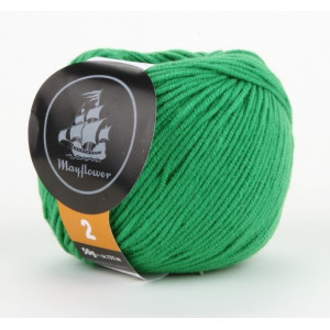 Mayflower Cotton 2 Garn Unicolor 232 Grøn