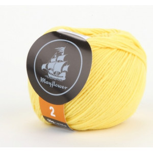 Mayflower Cotton 2 Garn Unicolor 235 Gul
