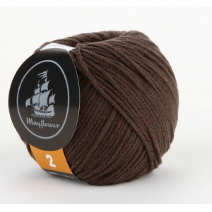 Mayflower Cotton 2 Garn Unicolor 236 Brun