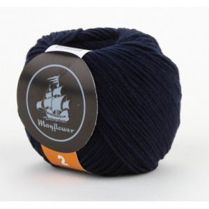 Mayflower Cotton 2 Garn Unicolor 244 Marineblå