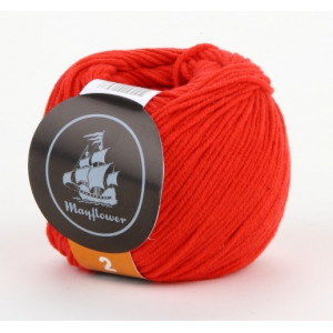 Mayflower Cotton 2 Garn Unicolor 245 Rød