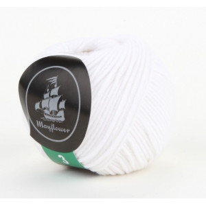 Mayflower Cotton 3 Garn Unicolor 322 Hvid