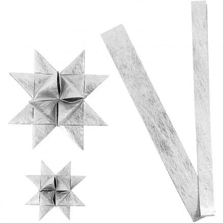 Stjernestrimler, B: 15+25 cm, diam. 6,5+11,5 cm, sølv, silke, 32striml thumbnail