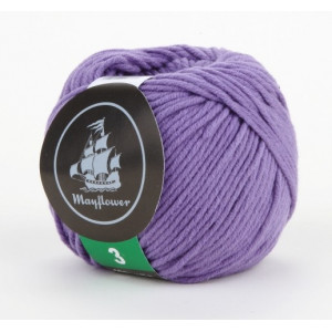Mayflower Cotton 3 Garn Unicolor 325 Lilla