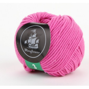 Mayflower Cotton 3 Garn Unicolor 326 Pink