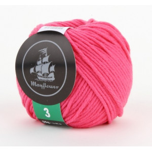 Mayflower Cotton 3 Garn Unicolor 327 Cerise