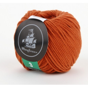 Mayflower Cotton 3 Garn Unicolor 329 Rust