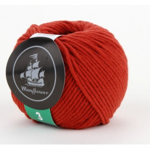 Mayflower Cotton 3 Garn Unicolor 330 Rustrød