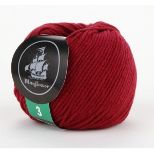 Mayflower Cotton 3 Garn Unicolor 331 Vinrød