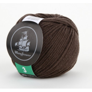 Mayflower Cotton 3 Garn Unicolor 336 Brun