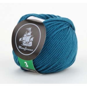 Mayflower Cotton 3 Garn Unicolor 338 Petrol