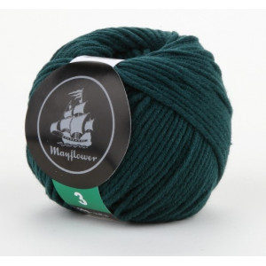 Mayflower Cotton 3 Garn Unicolor 339 Flaskegrøn