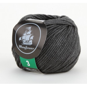 Mayflower Cotton 3 Garn Unicolor 342 Mørk Grå