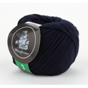 Mayflower Cotton 3 Garn Unicolor 344 Marineblå