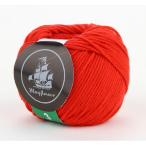 Mayflower Cotton 3 Garn Unicolor 345 Rød