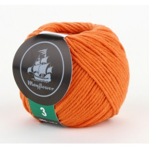 Mayflower Cotton 3 Garn Unicolor 346 Orange