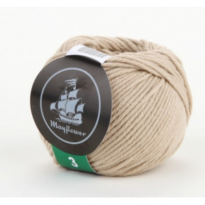 Mayflower Cotton 3 Garn Unicolor 347 Beige