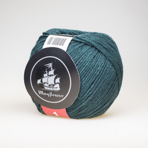 Mayflower Cotton 1 Garn Unicolor 139 Flaskegrøn