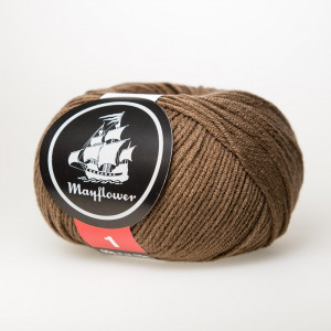 Mayflower Cotton 1 Garn Unicolor 150 Lys Brun