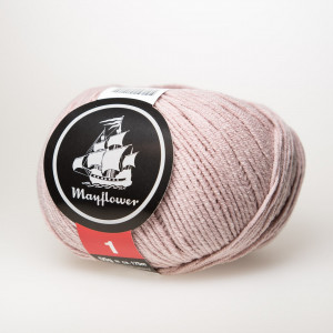 Mayflower Cotton 1 Garn Unicolor 153 Støvet Rosa