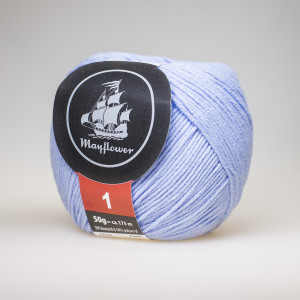 Mayflower Cotton 1 Garn Unicolor 123 Lys Blå