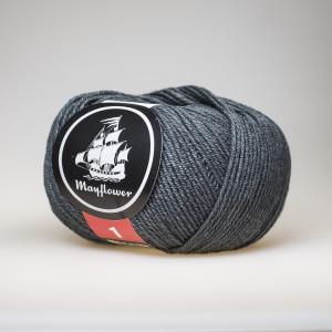 Mayflower Cotton 1 Garn Unicolor 142 Mørk Grå