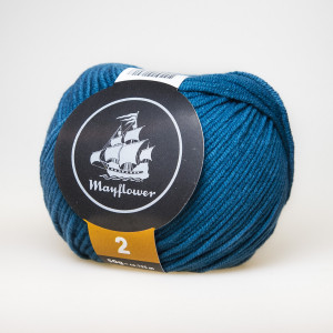 Mayflower Cotton 2 Garn Unicolor 238 Petrol