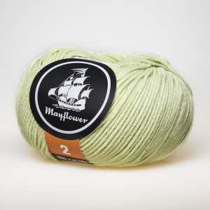 Mayflower Cotton 2 Garn Unicolor 248 Pistacie