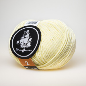 Mayflower Cotton 2 Garn Unicolor 252 Lys Gul